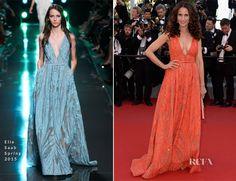 Andie MacDowell In Elie Saab – 'Inside Out' Cannes Film Festival Premiere