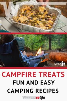 Fun & Easy Treats to Enjoy Around the Campfire Campfire Recipes, Campfire Food, Campingfood, Road Trip Adventure, Banana Split, Rv Travel, Rv Life, Camping Meals, Rv Living