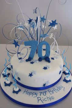 birthday cake ideas for mum Birthday Cakes For Men, 70th Birthday Parties, Birthday Cake Toppers, 70 Birthday, Dad Cake, Birthday Cake Decorating, Cake Images, Cake Ideas, Google Search