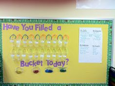 Have you filled a bucket today reward board!