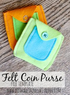 felt coin purse with free template