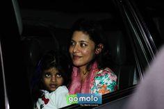 Neha at the Screening of Hindi movie 'Tevar' at Sunny Super Sound in Mumbai