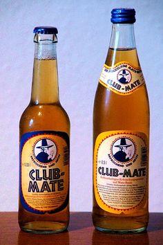 Yerba Mate soda from Germany. Weirdly popular among hackers.