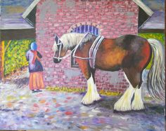 """Nicole Schmitt did an amazing job painting the """"Draft Horse at Rest"""" She took advantage of several back and forth suggestions from her personal art coach in Texas ( that would be me) and Wow! What s super painting. This step step tutorial can be found on our website and available to our subscribing VLL members."""