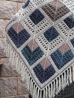 "Knit shawl ""Gardarika"" (knitted shawl, wool shawl, modular knitting, knit patchw… – The Best Ideas Crochet Afghans, Crochet Poncho, Knitted Shawls, Knit Or Crochet, Knitted Blankets, Knitting Stitches, Baby Knitting, Knitting Patterns, Crochet Patterns"