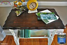 How gorgeous is this refinished table top by Serendipity Refined (https://www.facebook.com/SerendipityHome?fref=ts)  It was stained with the ever popular General Finishes Java Gel Stain. You can find your favorite GF products at Woodcraft, Rockler Woodworking stores or Wood Essence in Canada. You can also use your zip code to find a retailer near you at http://generalfinishes.com/where-buy#.UvASj1M3mIY. #generalfinishes #javagel #refinishedfurniture