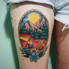 Go Outdoors With These Fun Camping Tattoos!                                                                                                                                                     More