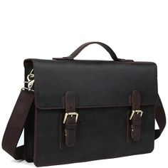 This durable work classic English leather briefcase makes for a terrific business companion. Leather Briefcase, Leather Case, Briefcases, Types Of Bag, Classic Leather, Messenger Bag, Satchel, Minimalist, English