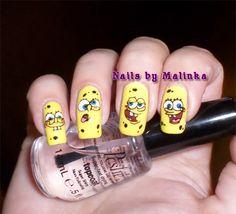 Nails by Malinka: Spongebob #wearyellowforseth