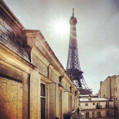 #paris #eiffeltower #sun #city