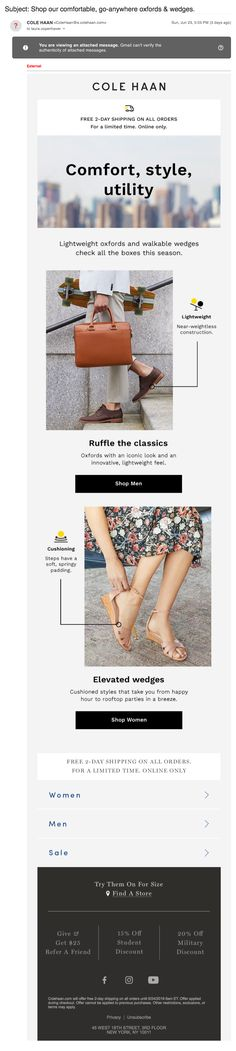 cole_haan3 Email Design Inspiration, Email Newsletters, Cole Haan, Style, Swag, Outfits