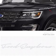 Car Slogan Decal Lettering Sticker 10008 A for Ford Explorer Detail korea Grien #Griben