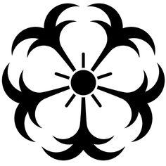 錨桜紋 ANCHOR Japanese Family Crest, Cloud Drawing, Flower Coloring Pages, Japanese Patterns, Mirror Art, Flower Template, Stencil Designs, Tattoos With Meaning, Stone Painting