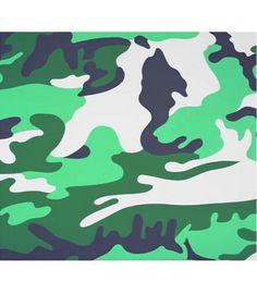 Andy warhol camouflage screenprints 1986 green art