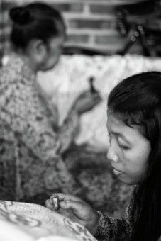 """Fehmiu Roffytavare: A family in which the son is being painting batik to continue her effort to keep """"batik tulis"""". Batik is a special kind of motive that is native from Indonesia. Making batik (manually/handmade) is not easy because it requires precision and timing. Therefor it rarely young people who want to pursue around the batik tulis (handmade manually)."""