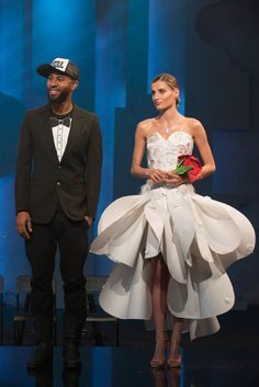 Edmond Newton and his winning look from the first unconventional challenge on Season 14 of Project Runway.