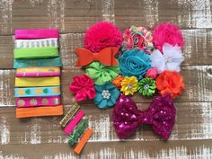 Island dreamin headband kit - diy headband kit - baby shower headband station - headband kit - headband supplies - hair bow supplies by CuteAsaBowSupplyCo on Etsy