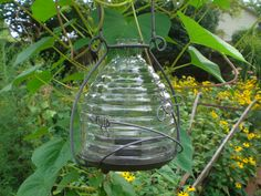 bee skep lantern, for underneath the deck, when I make my fairy garden