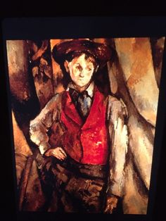 "Paul Cezanne ""Boy In Red Vest "" French Post-impressionism 35mm Art Slide  