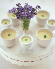 This delicious potato leek soup can be made up to two days in advance.