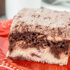 Layers of chocolate ricotta and frosting this Italian Love Cake