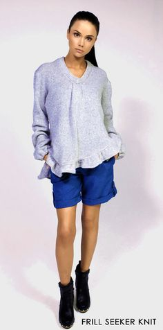 Masonette oversized Knit (Frill seeker knit)