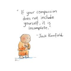 Today's Buddha Doodle: compassion for self