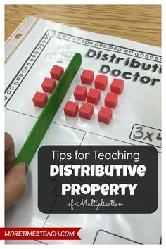 So critical for our special education students to visualize and deeply understand. The DISTRIBUTIVE PROPERTY of multiplication can be tricky! This post gives you fun, engaging STRATEGIES and ACTIVITIES that students will love! Get all the strategies at: Distributive Property Of Multiplication, Teaching Multiplication, Teaching Math, Teaching Ideas, Multiplication Chart, Teaching Materials, Fractions, Math Properties, Properties Of Multiplication