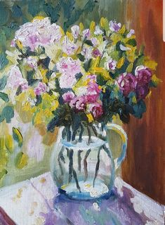 #Blumen #Transparenz #schöneblumen #impressionist #apaintingaday Impressionist, Create Yourself, Etsy Seller, Creative, Painting, Paper, Vase For Flowers, Beautiful Flowers, Painting Art