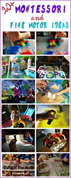 20+ Montessori and Fine Motor Ideas