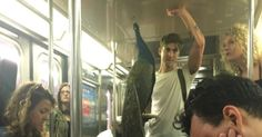 Guy carrying a peacock on the subway and no one paying attention is peak NYC -      New York City residents are used to seeing strange things on the subway —  dogs in suitcases  ,  impromptu graduation ceremonies  ,  people ... See more at https://www.icetrend.com/guy-carrying-a-peacock-on-the-subway-and-no-one-paying-attention-is-peak-nyc/