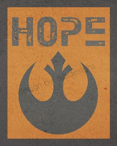 Star Wars Rebel Symbol  HOPE by tkbdesigns on Etsy, $19.00