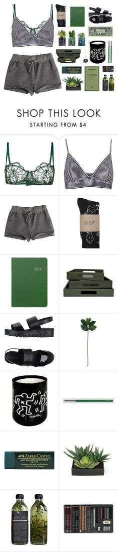 """""""was never into the beaches and all the sands"""" by junglex ❤ liked on Polyvore featuring I.D. SARRIERI, Pull&Bear, Graphic Image, KEEP ME, Jeffrey Campbell, Laura Cole, HAY, Faber-Castell and Lux-Art Silks"""