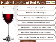 Health benefits of red wine have made it one of the most written about alcoholic beverages in the recent times. It participates in prevention of conditions ranging from cardiovascular diseases to cancer. Other advantages of red wine include prevention of dementia, combating the aging process, controlling hypertension etc. Red wine can aid in reducing the risk for developing gallstones and kidney stones. It plays a role in boosting the general resistance to allergens and the antioxidants from…