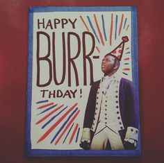 as much as i hate aaron burr for killing alexander hamilton, this is very punny😂 Hamilton Musical, Theatre Nerds, Musical Theatre, Theater, Hamilton Gifts, Hamilton Burr, Hamilton Cakes, Funny Hamilton, Fandoms