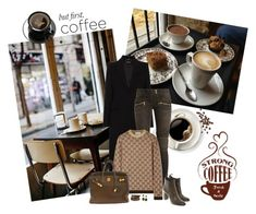 """Coffee"" by spainlover ❤ liked on Polyvore featuring Coffee Shop, Alexander McQueen, Balmain, Gucci, Santoni, Hermès, NEST Jewelry and Effy Jewelry"