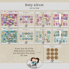SoMa Design: Baby album - All In One - plus a freebie Baby Album, Baby Design, Digital Scrapbooking, All In One, Kit, Baby Scrapbook