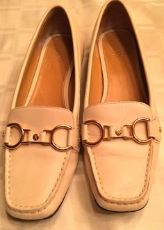 c7831b40a Cole Haan Nike Air Cream Leather Women Flats New Size 6.5 b Oxford Flats