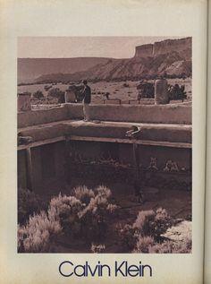 Calvin Klein by Bruce Webber 1984 - ghost ranch, abiquiu