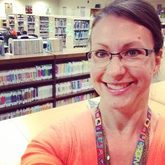 """Titan Hill Library selfie!! ""My"" space serves the literacy needs of 950+ Ss! Endless possibilities! #eduinsta9 #lctitanhill"""