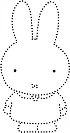 Nijntje String Art Patterns, Felt Patterns, Beading Patterns, Art Drawings For Kids, Drawing For Kids, Baby Dumbo, All About Me Preschool, Rabbit Crafts, Miffy