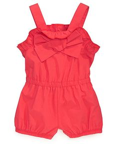 First Impressions Baby Romper, Baby Girls Bow Romper - Kids Baby Girl (0-24 months) - Macys 30.00