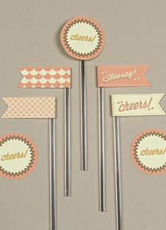 Free Printables - Retro Flags from Love vs Design
