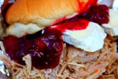 Turkey to Go pulled turkey on BigOven: Roasted turkey pulled apart then seasoned and slow cooked. Turkey To Go Recipe, Turkey Recipes, Pulled Turkey, Slow Cooker Times, Turkey Stuffing, Crockpot Recipes, Fun Recipes, Winter Recipes, Diabetic Recipes