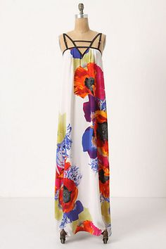 windblown anemone maxi dress