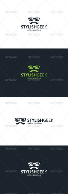 Stylish Geek Logo Template PSD, Transparent PNG, Vector EPS, AI Illustrator. Download here: https://graphicriver.net/item/stylish-geek-logo/8241559?ref=ksioks