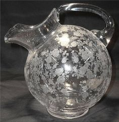 Cambridge Glass tulip etched water pitcher - Yahoo Image Search Results