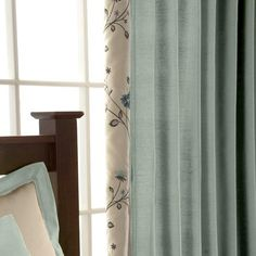 Duck Egg Ruby Lined Pencil Pleat Curtains | Dunelm Mill
