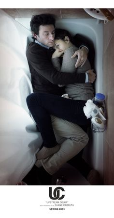 UPSTREAM COLOR: Directed by Shane Carruth.  With Amy Seimetz, Frank Mosley, Shane Carruth, Andrew Sensenig. A man and woman are drawn together, entangled in the life cycle of an ageless organism. Identity becomes an illusion as they struggle to assemble the loose fragments of wrecked lives.