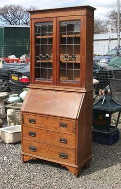 Beautiful Art Nouveau Bookcase Bureau - £395 at TwoJays Corner Antiques & Vintage
